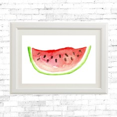 Watercolour watermelon print
