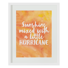 Sunshine mixed with a little hurricane print