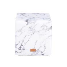 Woouf Ottoman - Marble White