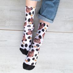 Personalised Cat Pet Photo Socks