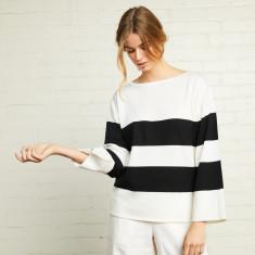 Stripe Boat-neck Sweater
