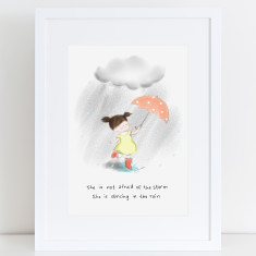 Dancing in the Rain Art Print