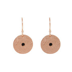 Grace Small Disc Earrings in Rose Gold Plate