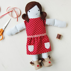 Make Your Own Festive Doll Dress Kit