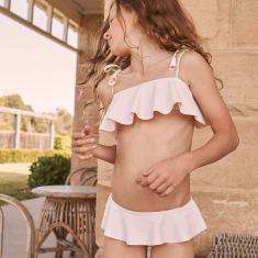 Girl's Positano Bikini - Pink & Pistachio