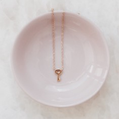 Key necklace 18k gold vermeil