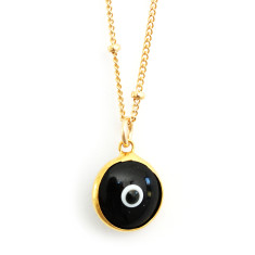 Evil eye necklace (various colours)