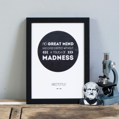 inspiring Aristotle great minds quote print