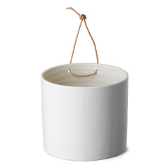Anne Black grow wall flower pot in white