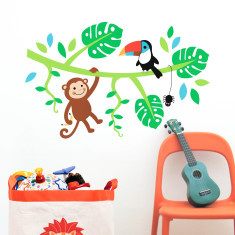 Forest boy wall decal