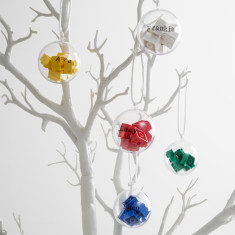 Personalised Building Block Baubles