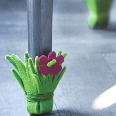 Set of Four Plant Chair Leg Protectors