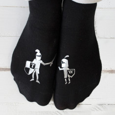 Personalised Knight In Shining Armour Socks