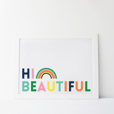 Good Morning Beautiful Rainbow Print
