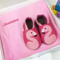 Personalised Flamingo Shoes & Blanket Gift Set