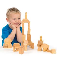 Natural Wood Building Blocks