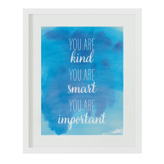 You are kind blue watercolour print