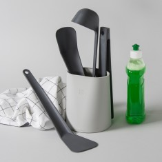 Kitchen Utensils Tool Set - Utensils and Holder in grey