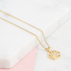 Hexagon Necklace (small)