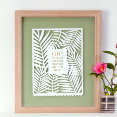 Personalised Papercut with Quote in Gold
