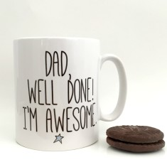 Well done dad Father's Day mug