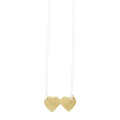 Joined at the hip heart necklace