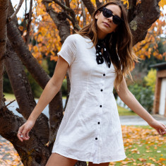 Atlas button-down dress