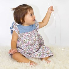 Floral dress with nappy cover