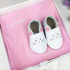 Personalised Embroidered Mouse baby gift set