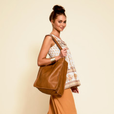 Nomad leather slouch bag