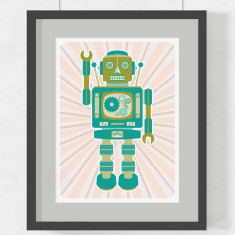 Robot Trevor art print