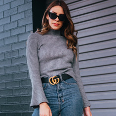 Fleur wool blend knit jumper