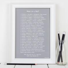 What is a dad poem personalised print