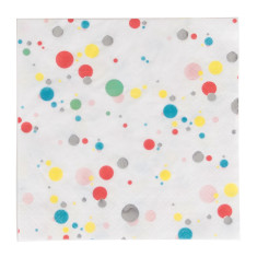 multicolour bubbles party napkins (2 pack)