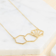 Three Hexagon Necklace