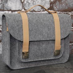 Briefcase for your laptop with genuine leather