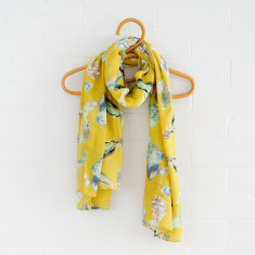 Feather Scarf In Yellow
