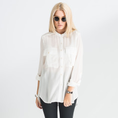 Johanna Silk Oversized Shirt