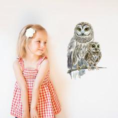 Woodland Owls Wall Sticker