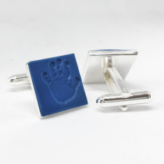Embossed Coloured Handprint Cufflinks