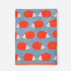 Kissing Hedgehogs Stone Blue Bath Hand Towels (Set of 2)