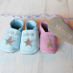 Personalised star baby shoes