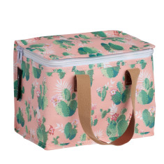 Insulated lunch box bag in Cactus Print