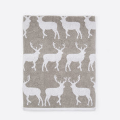 Kissing Stags Bath Hand Towels (Set of 2)