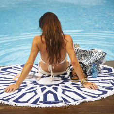 Afous Large Luxury Round Beach Towel