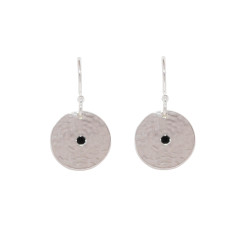 Grace Small Disc Earrings in Sterling Silver