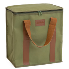 Washable Kraft Paper Insulated Cooler Bag in Olive