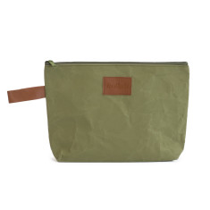 Washable Kraft Paper Clutch in Olive