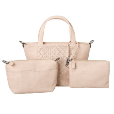 Penelope handbag three piece set (various colours)