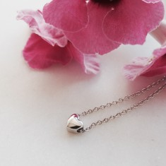 Small heart necklace sterling silver
